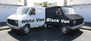 White van/black van
